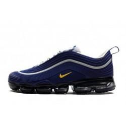 Nike Air VaporMax 97 Bleu/Jaune Pas Cher