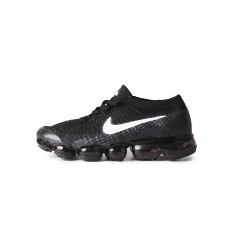 Hommes Nike Air Vapormax Flyknit Noir/Blanc Pas Cher