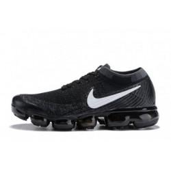 Femmes/Hommes Nike Air Vapormax Flyknit Noir/Blanc Pas Cher