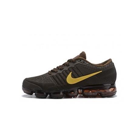 Hommes Nike Air Vapormax Flyknit Marron/Jaune Pas Cher