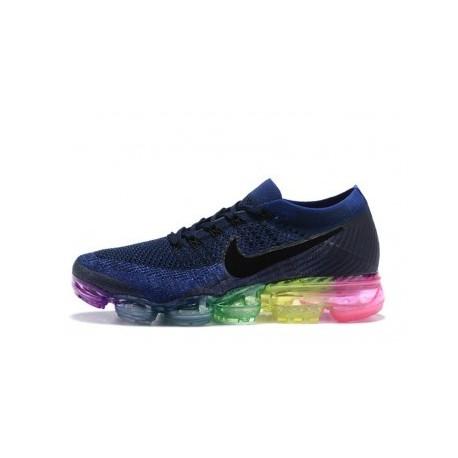 Hommes Nike Air Vapormax Flyknit Bleu Pas Cher