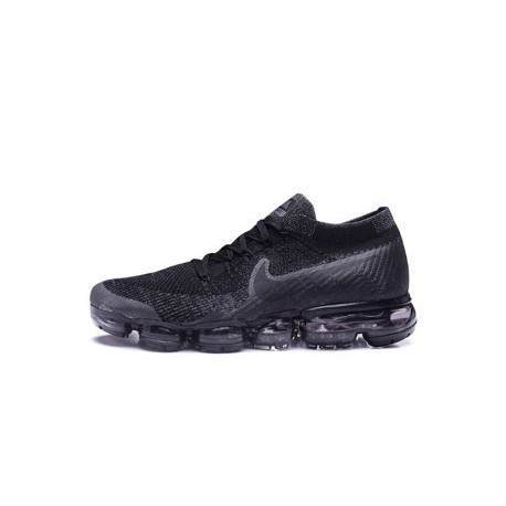 Hommes Nike Air Vapormax Flyknit Gris/Noir Pas Cher