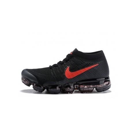 Hommes Nike Air Vapormax Flyknit Noir/Rouge Pas Cher