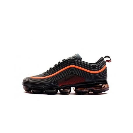 Homme Nike Air VaporMax 97 Noir/Orange Pas Cher