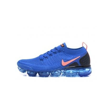 Hommes Nike Air Vapormax Flyknit 2.0 Bleu Pas Cher