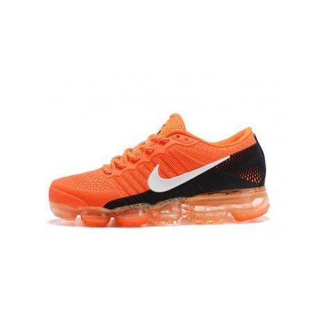 Hommes Nike Air Vapormax Flyknit Orange/Noir Pas Cher