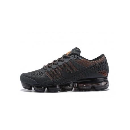 Hommes Nike Air Vapormax Flyknit Noir/Orange Pas Cher
