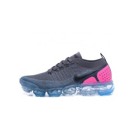 Femmes/Hommes Nike Air Vapormax Flyknit 2.0 Gris Pas Cher