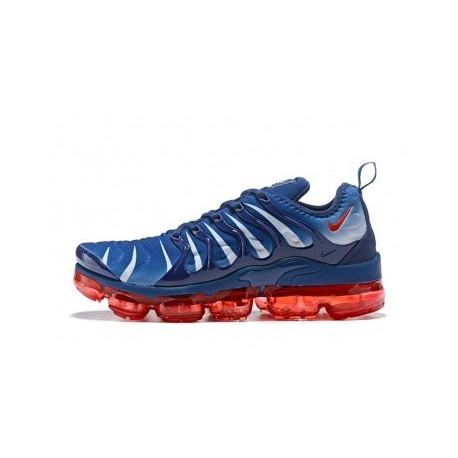 Nike Air VaporMax Plus/TN Bleu/Rouge Pas Cher