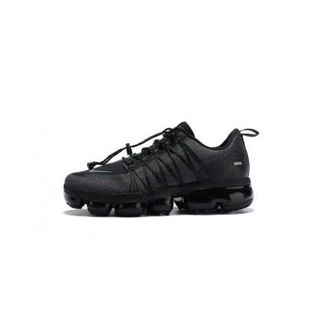 Hommes Nike Air VaporMax Run Utility Noir/Gris Pas Cher