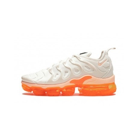Nike Air VaporMax Plus/TN Beige/Orange pour Homme Pas Cher