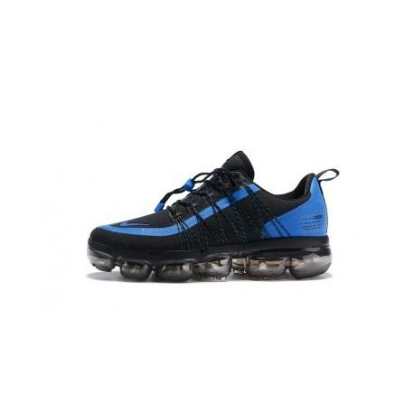 Hommes Nike Air VaporMax Run Utility Noir/Bleu Pas Cher