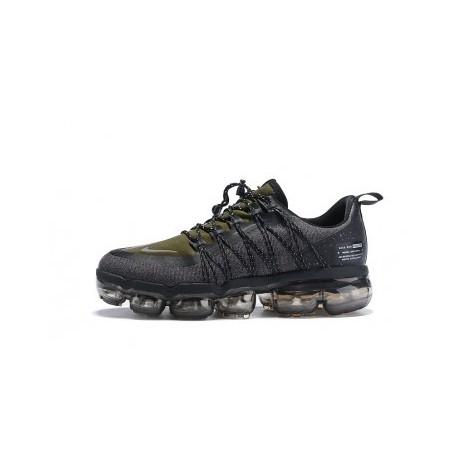 Hommes Nike Air VaporMax Run Utility Noir/Vert Pas Cher