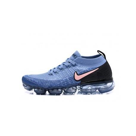 Hommes Nike Air Vapormax Flyknit 2.0 Noir/Bleu Pas Cher