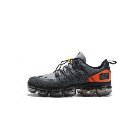 Nike Air VaporMax Run Utility pour Homme - Gris/Orange Pas Cher