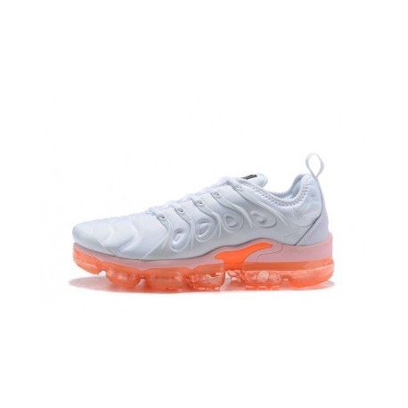Nike Air VaporMax Plus/TN Blanc/Orange Pas Cher