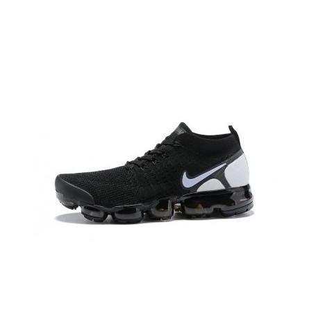Hommes Nike Air Vapormax Flyknit 2.0 Noir/Blanc Pas Cher