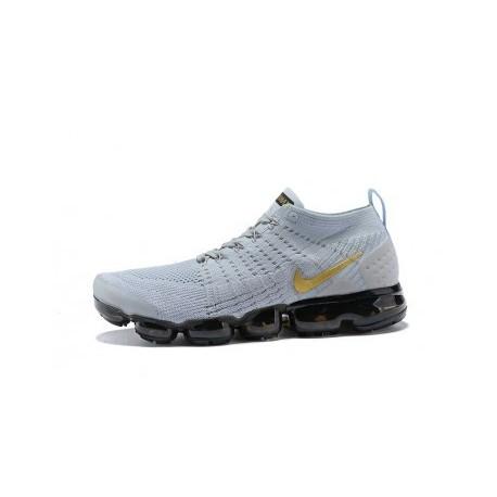 Hommes Nike Air Vapormax Flyknit 2.0 Noir/Gris Pas Cher