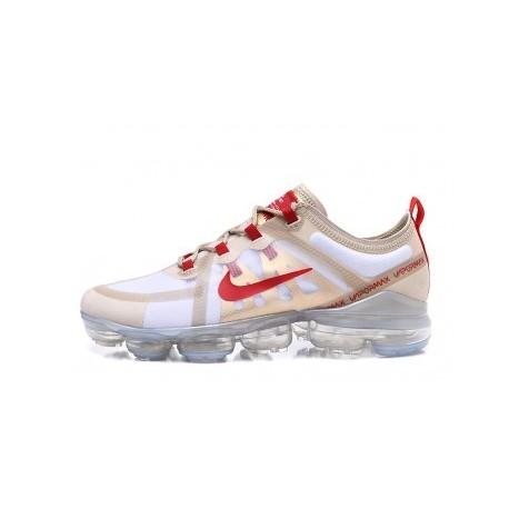 Hommes Nike Air VaporMax 2019 Blanc Pas Cher
