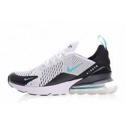 Femmes/Hommes Nike Air Max 270 Blanc/Noir Pas Cher