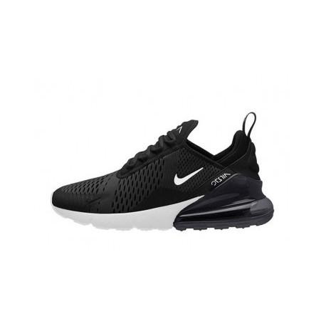 Femmes/Hommes Nike Air Max 270 Noir/Blanc Pas Cher
