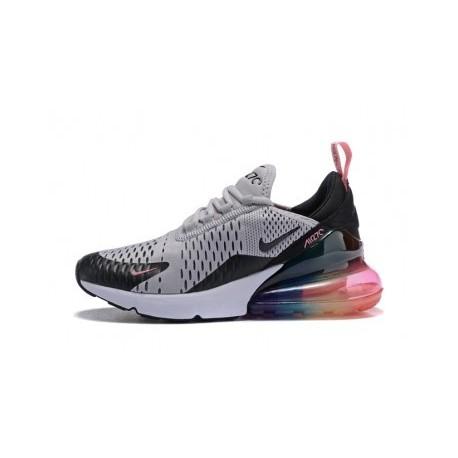 Femmes/Hommes Nike Air Max 270 Gris/Noir Pas Cher