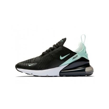 Femme/Homme Nike Air Max 270 Noir/Vert Pas Cher