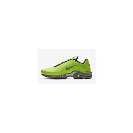 Nike Air Max Plus Premium Volt Argent mat pour homme pas cher