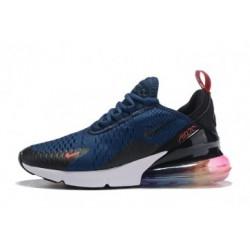 Femme/Homme Nike Air Max 270 Noir/Bleu Pas Cher