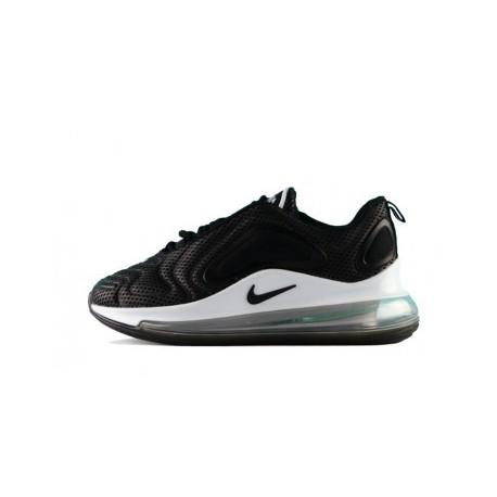 Femmes/Hommes Nike Air Max 720 Noir/Blanc Pas Cher