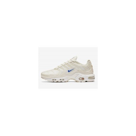 TN 2019 Homme Nike Air Max Plus Sable Blanc Bleu Homme Pas Cher