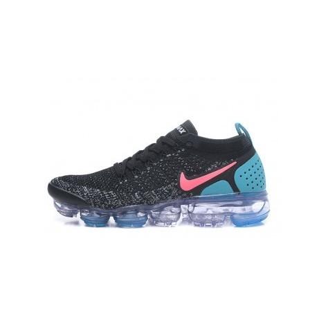 Femmes/Hommes Nike Air Vapormax Flyknit 2.0 Noir/Bleu Pas Cher