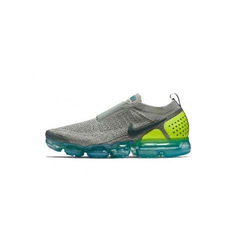 Femmes/Hommes Nike Air Vapormax Flyknit 2.0 Gris/Vert Pas Cher