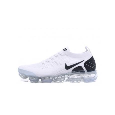 Femmes/Hommes Nike Air Vapormax Flyknit 2.0 Blanc/Noir Pas Cher