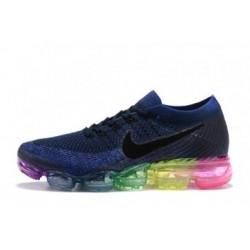 Femmes Nike Air Vapormax Flyknit Bleu Pas Cher