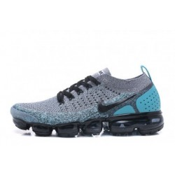 Femmes/Hommes Nike Air Vapormax Flyknit 2.0 Gris/Bleu Pas Cher