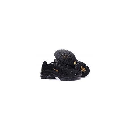 TN 2019 Homme Nike Air Max Plus TN Hommes Ultra Noir Or Pas Cher